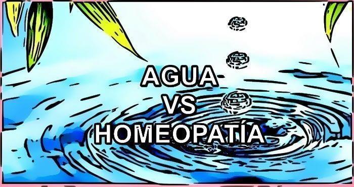 agua y homeopatía ¿es lo mismo?