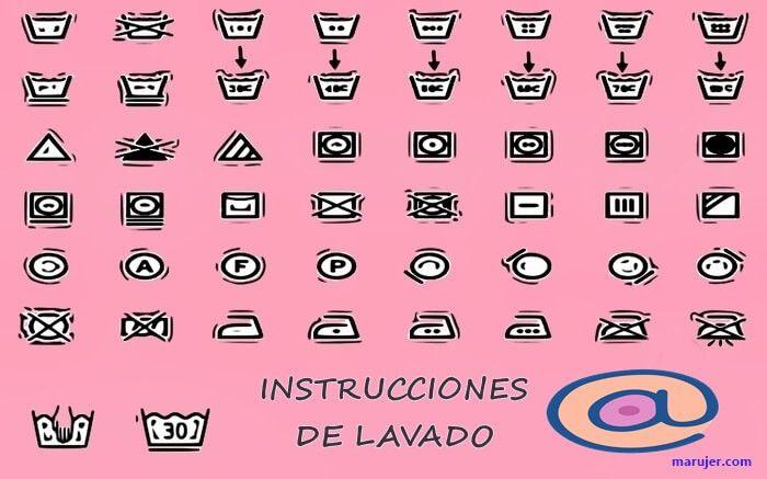 qué significa los símbolos en las etiquetas de lavado