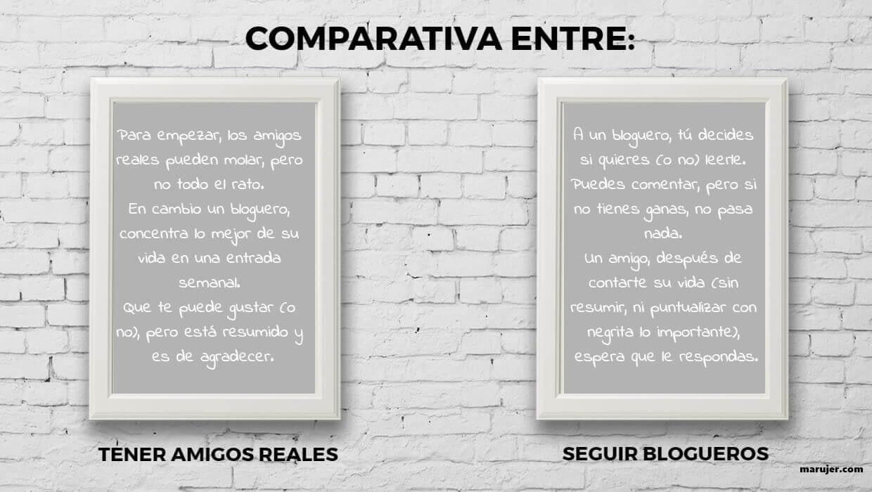 comparativa entre amigo con blog y amigo sin blog
