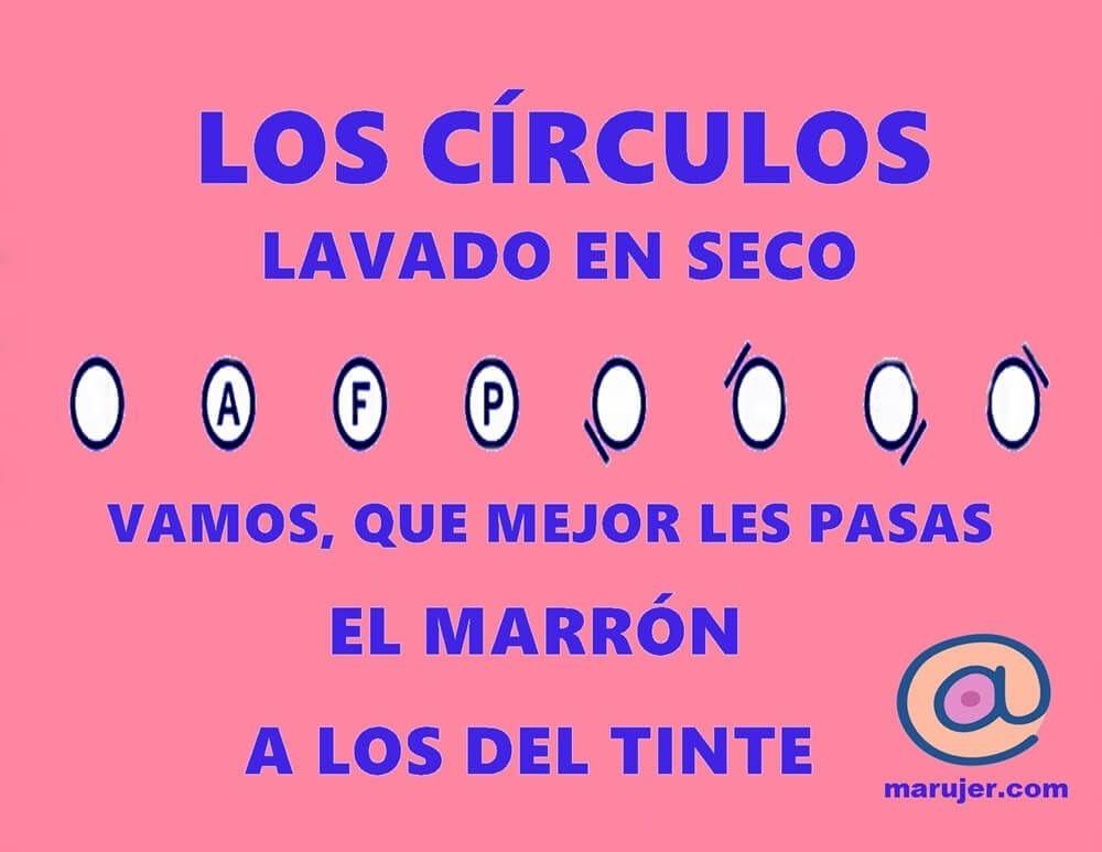 instrucciones de lavado, qué significan los círculos