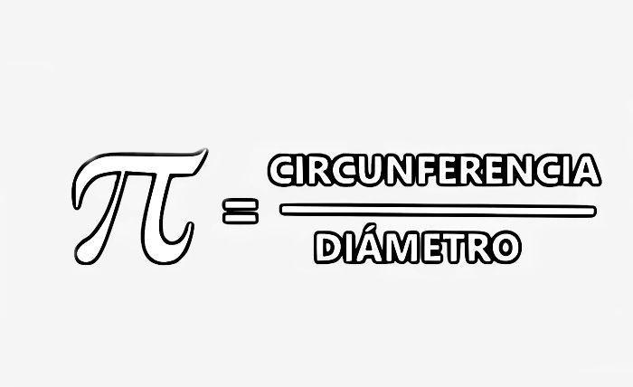 Pí es igual a circunferencia entre adiámetro
