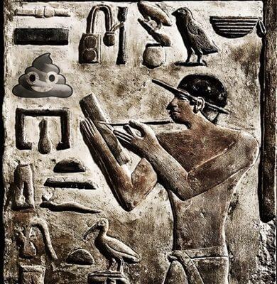Primeros emoticonos en jeroglíficos