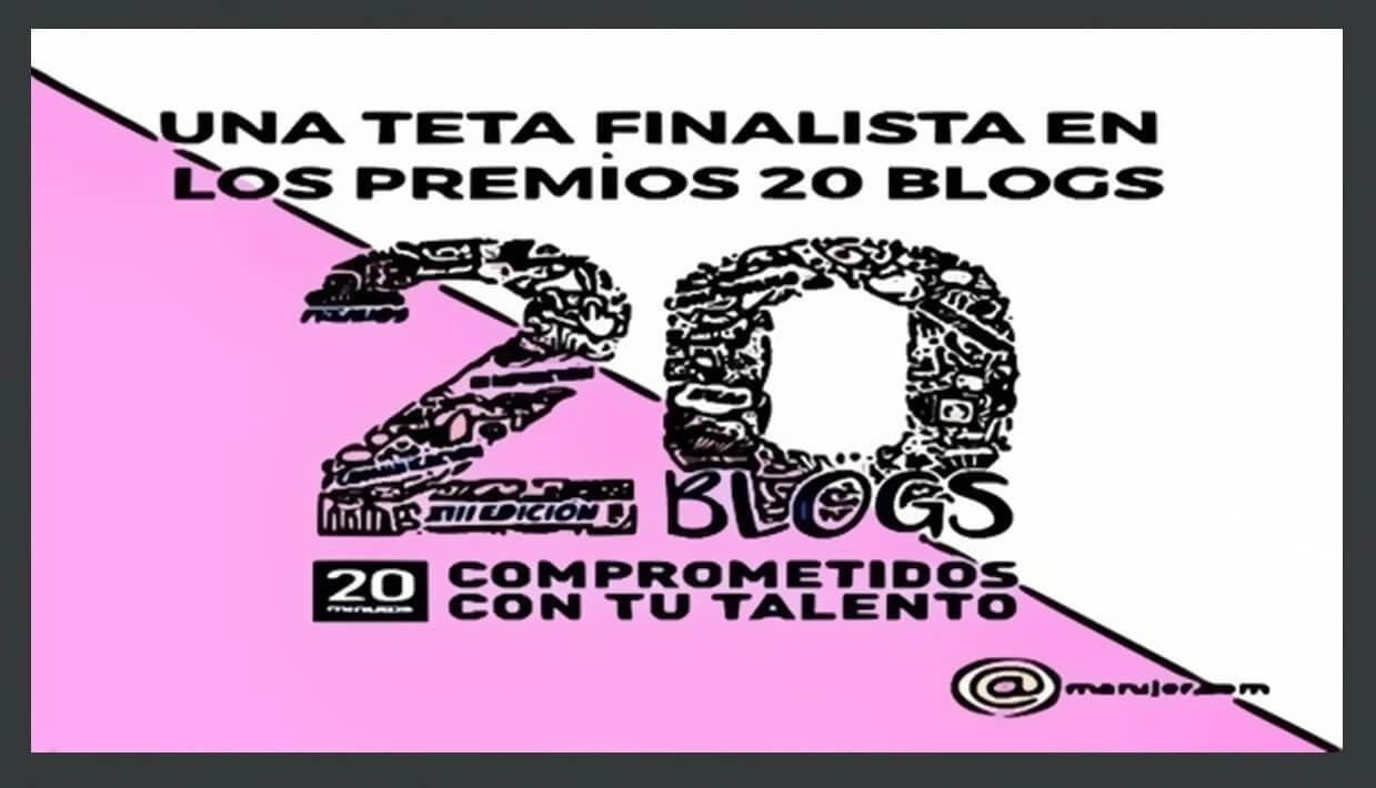 una teta es finalista en los premios 20 blogs