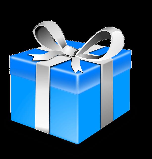 paquete de regalo azul