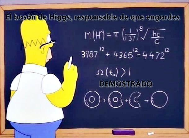 Homer Simpson y el bosón de Higgs