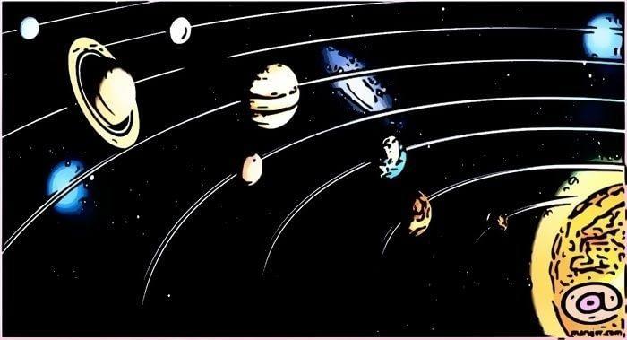 los planetas que orbitan el sistema solar siguen una elíptica o geodésica