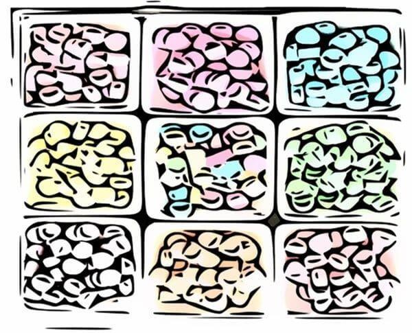 medicación placebo de colorines