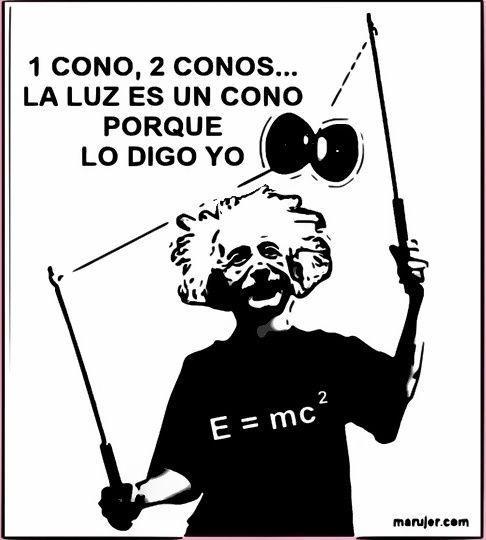 Einstein, la luz es un cono