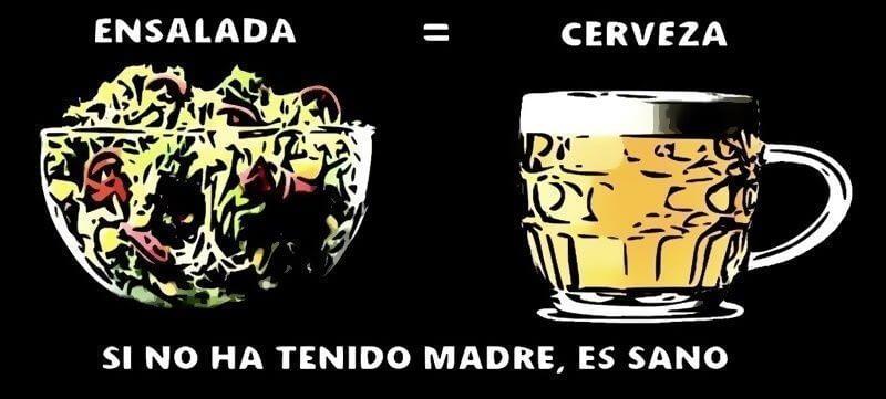 una cerveza alimenta igual que una ensalada
