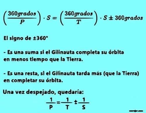 Cálculo del periodo sideral